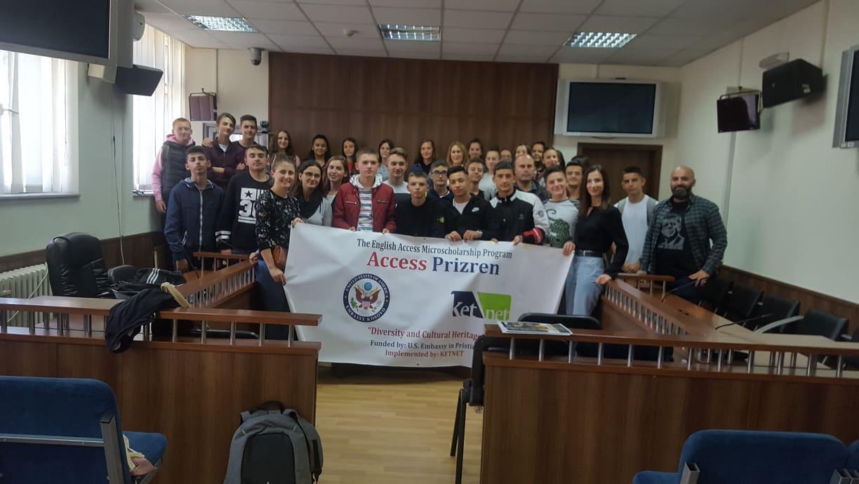 Dyzet (dyzet) nxënës të Kombësive të ndryshme vizituan Gjykatën Themelore të Prizrenit